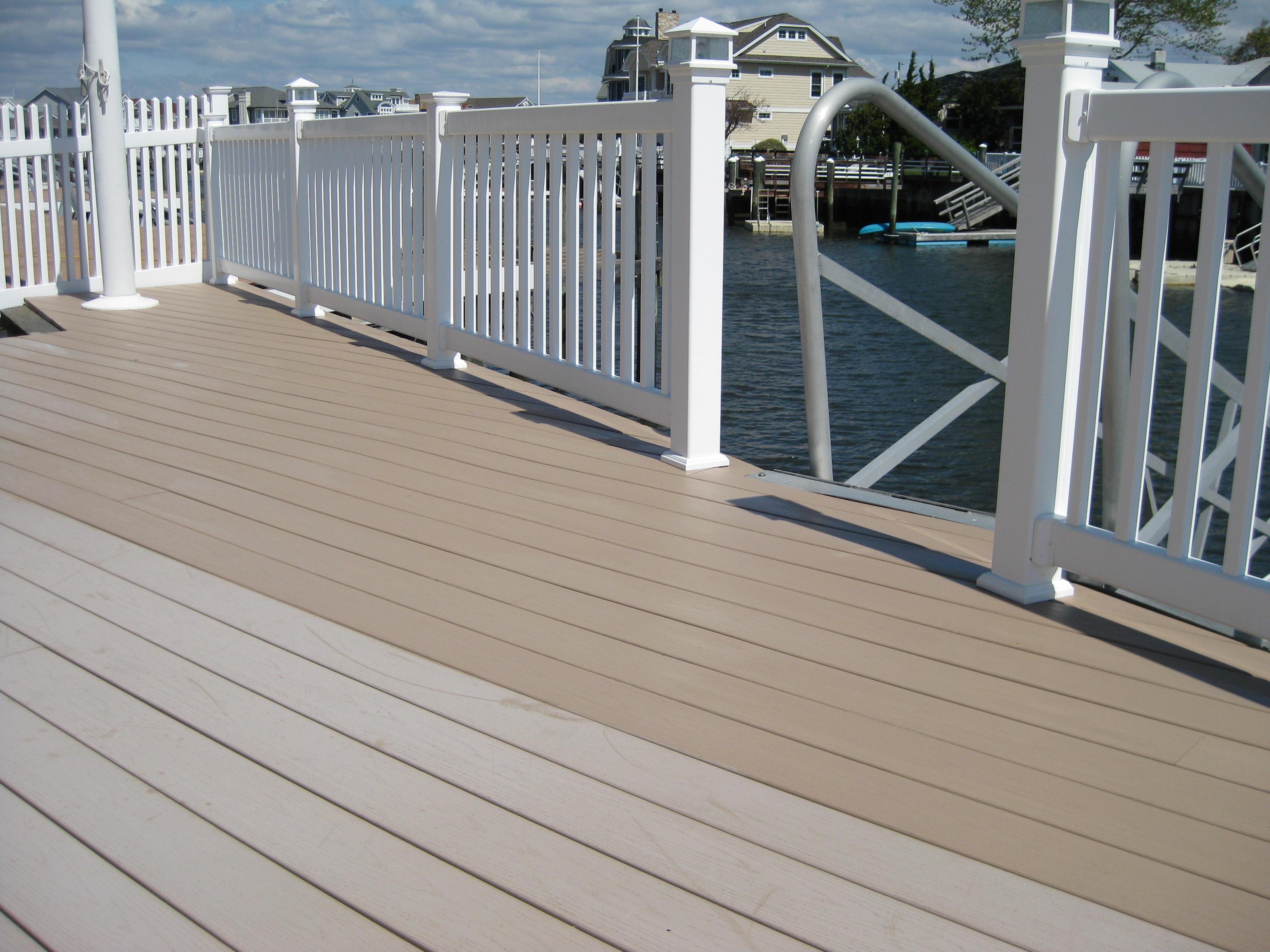 Clean weathered deck