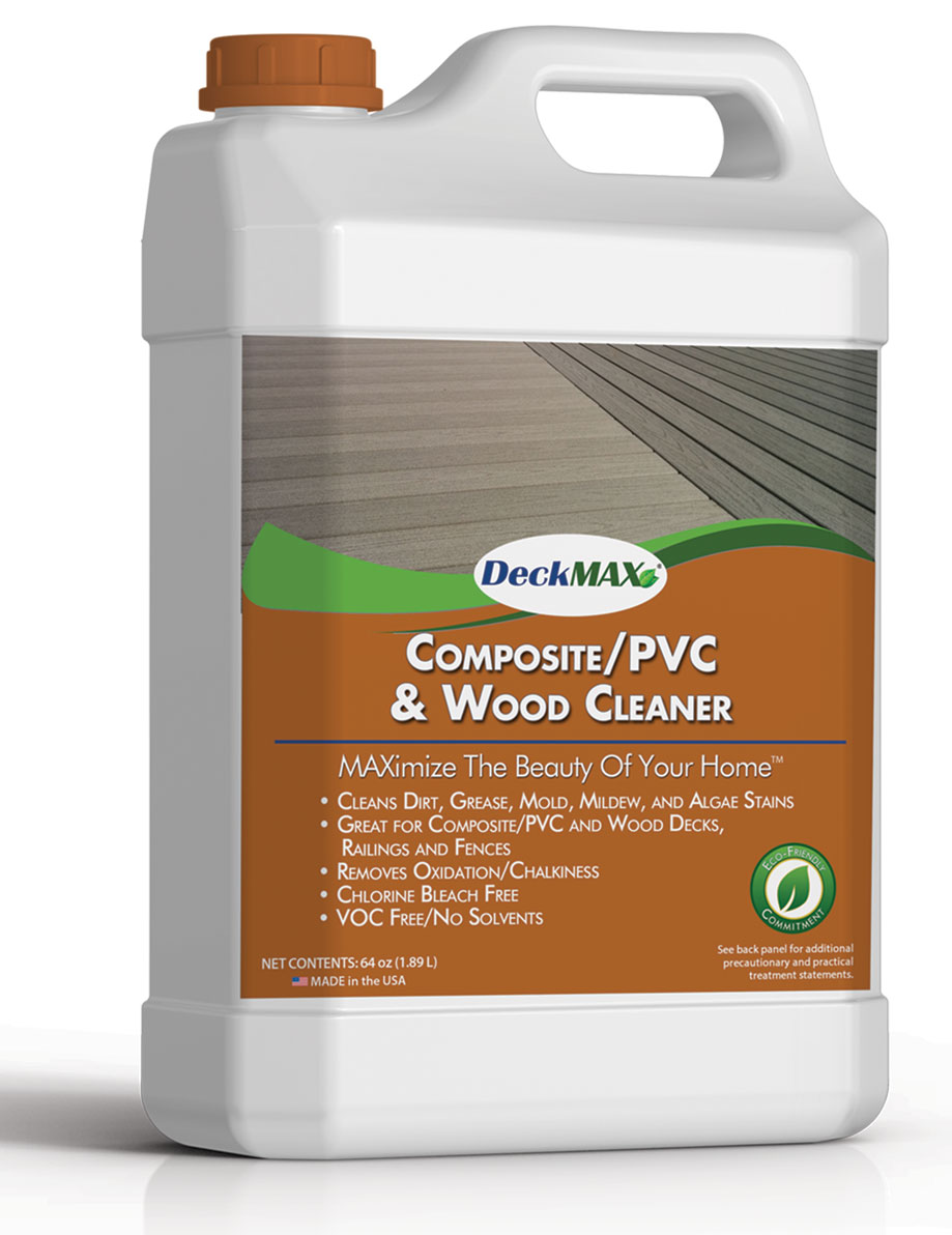 Deckmax best deck cleaner to restore a deck pvc wood for Deck and concrete cleaner