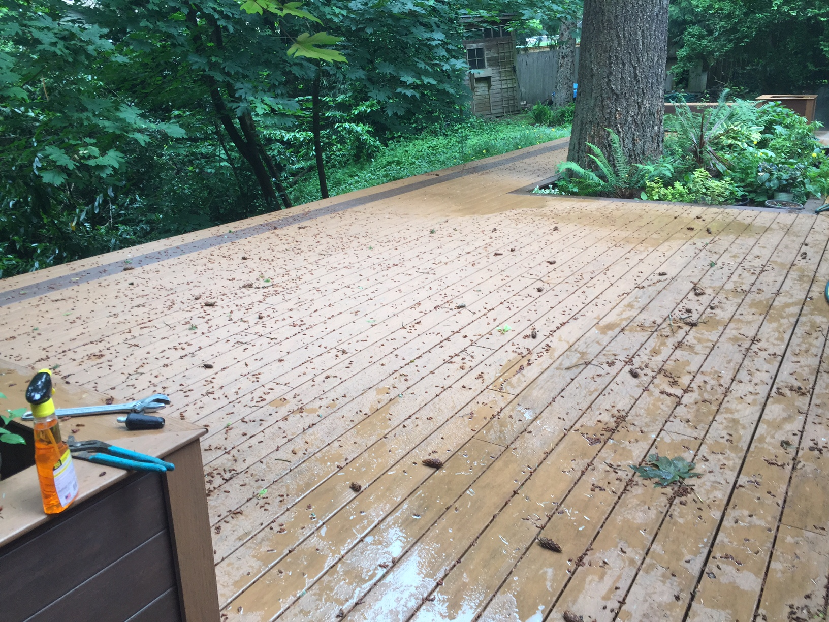 professional deck cleaner before | DeckMax®
